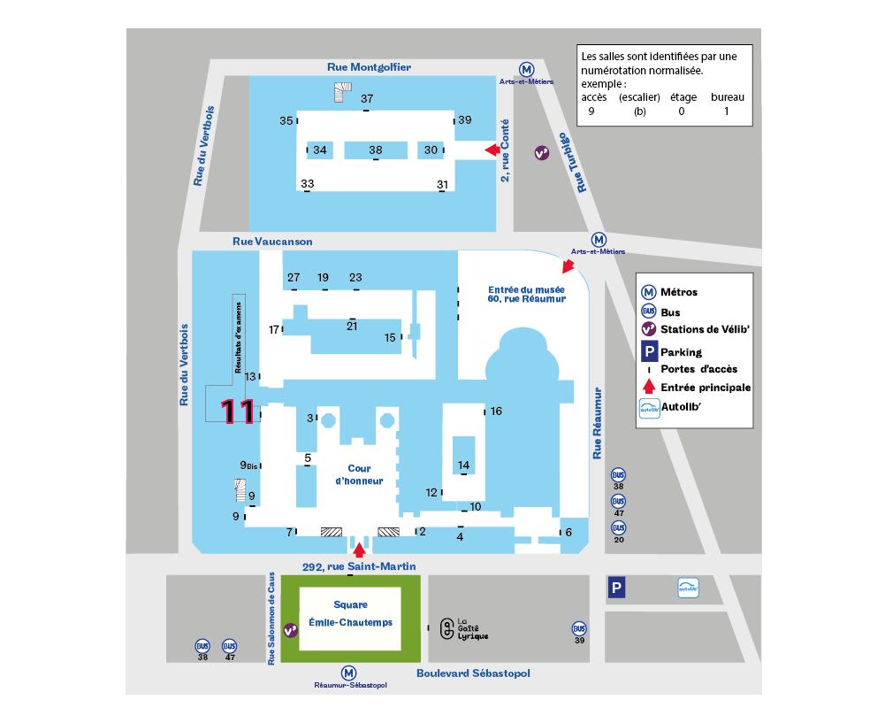 Paris 3e accès 11 plan